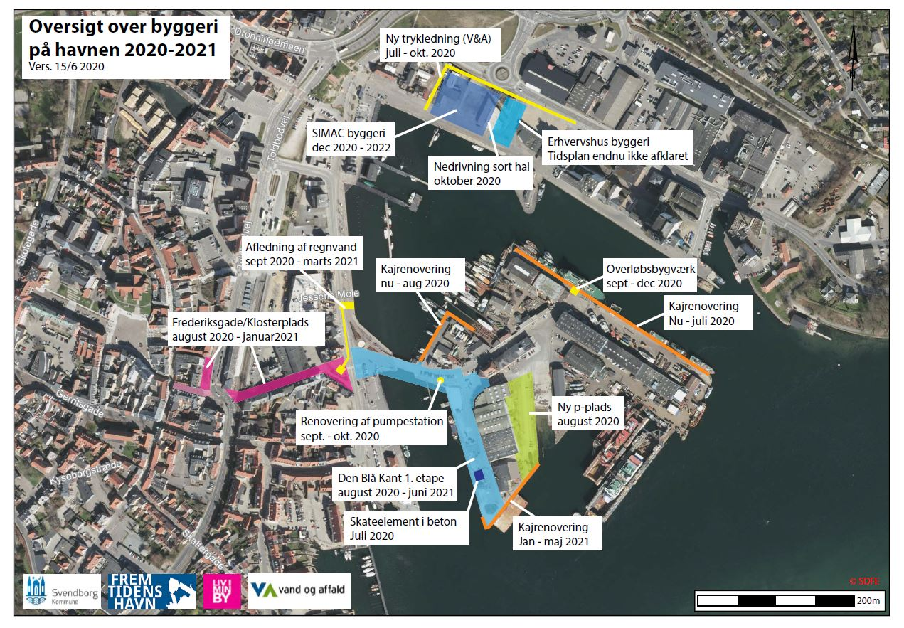 Oversigt over byggeri på Svendborg Havn i 2020-21