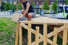 Hulebygger-workshop af Spåneriet støttet af Bylivspuljen