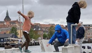 børn på parkourbane Frederiksø