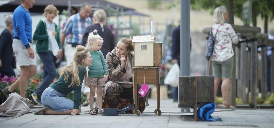 'Mini-a-tours' af Betina Birkjær blev støttet af bylivspuljen. Foto: Ard Jongsma
